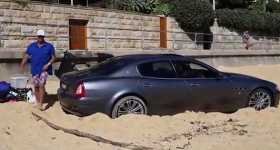 Expensive Maserati Used As Golf Buggy On Watsons Bay 1