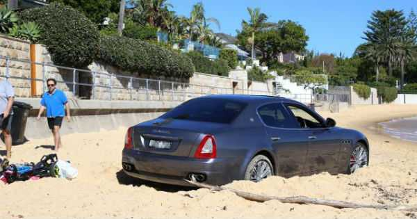 Expensive Maserati Used As Golf Buggy On Watsons Bay 2