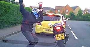 Funny Motorcyclist Gets Off His Bike To Dance 1