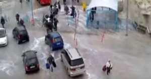 GREECE Ferry Docking Extreme Weather Conditions Cars 1