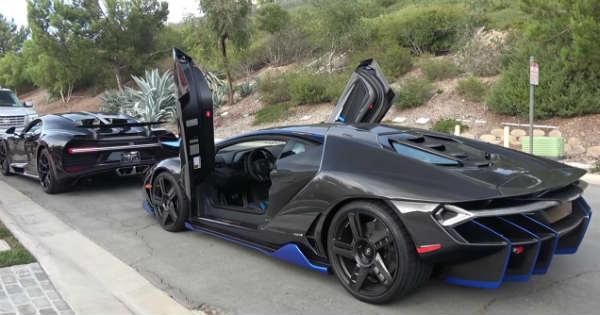 Lamborghini Centenario Vs Bugatti Chiron Jaguar F Type Svr Muscle Cars Zone