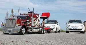 RC Truck Model Peterbilt 359 Fiat 500 1