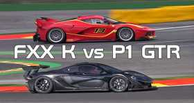 Sound Comparison Ferrari FXX K McLaren P1 GTR 1