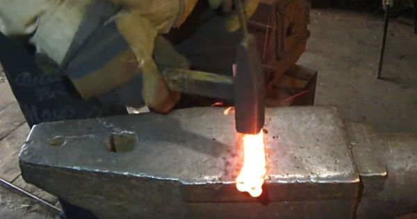 The Making Of Damascus Knife From Bike Chain Muscle Cars Zone