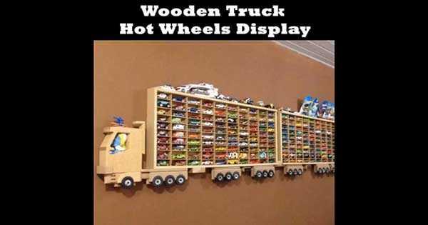 Wooden Truck Hot Wheels Display 1