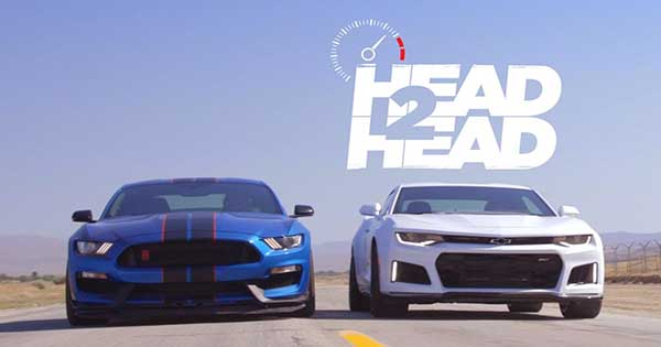 2017 Chevrolet Camaro ZL1 vs 2017 Ford Shelby Mustang GT350R 1