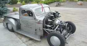 Air Radial Engine Powered 1939 Plymouth Truck First Test Drive 1