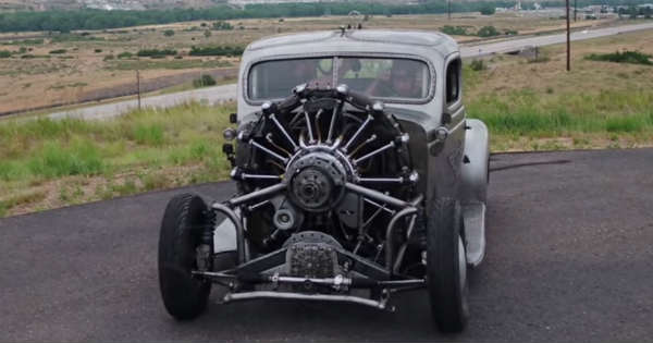 Air Radial Engine Powered 1939 Plymouth Truck First Test Drive 2
