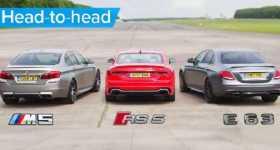 BMW M5 Drag Races Mercedes And Audi 1