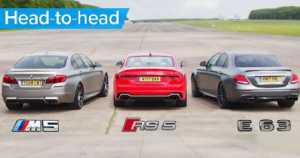 BMW M5 Drag Races Mercedes And Audi 1