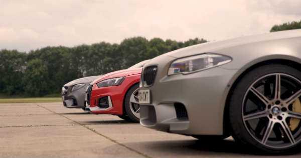 BMW M5 Drag Races Mercedes And Audi 2