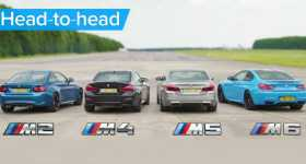 BMW M5 v M4 v M2 v M6 DRAG ROLLING RACE Head-to-Head 1