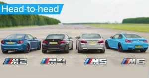BMW M5 v M4 v M2 v M6 DRAG ROLLING RACE Head-to-Head 1