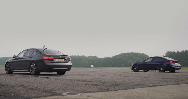 BMW M760Li vs BMW M3 Competition 1