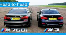 BMW M760Li vs BMW M3 Competition 11