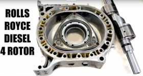 Diesel Rotary Engine With 4 Rotors By ROLLS ROYCE 1