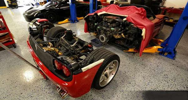 Ferrari F50 Clutch Replacement Definitely Not An Easy Task