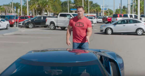 John Cena Goes Wild By A  Ford Gt Frankestein Roar