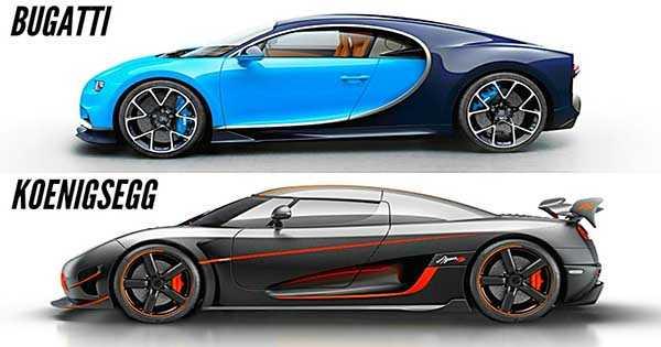 Koenigsegg vs bugatti