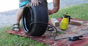 Manual Tire Mounting Process 1