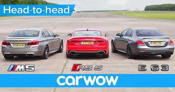 Mercedes AMG vs BMW M5 vs Audi RS 5 2