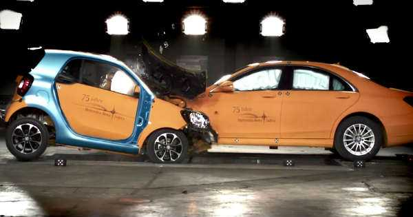 Mercedes Smart Safety Test 2