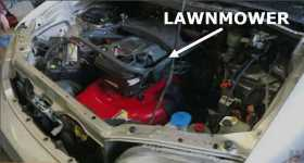 Minivan Is Powered By A Lawn Mower Engine 11