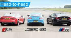 New Audi RS5 BMW M4 Mercedes AMG C63S 1