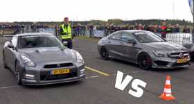 Nissan GTR Switzer P800 vs Mercedes CLA45 AMG vs Audi RS6 vs McLaren 570s 1