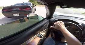 Old Man in a Dodge Hellcat Humiliates Corvette Owner 1