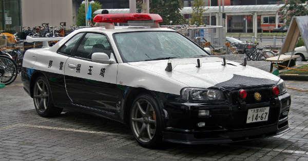 R34 GT-R Police Car Exists 2