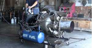 RUNAWAY JET ENGINE Tries to leave the building on its own 1