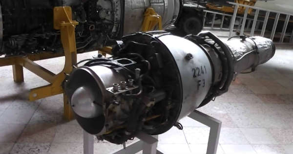 RUNAWAY JET ENGINE Tries to leave the building on its own 2
