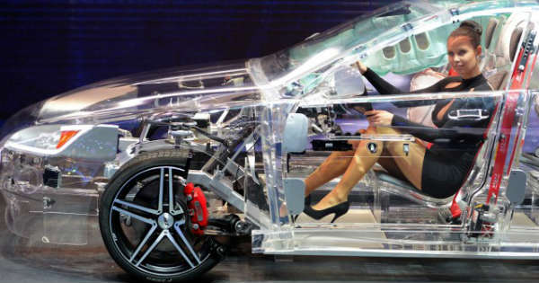 Transparent Car Build of Acrylic Showcases - Future Automotive Safety Technology 2