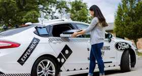 Autonomous Driving Cars For Delivery Dominos Ford 1