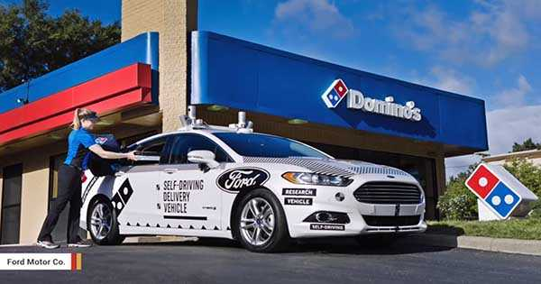 Autonomous Driving Cars For Delivery Dominos Ford 2