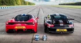DRAG RACE FERRARI 458 SPECIALE VS Porsche 911 GT3 RS 1