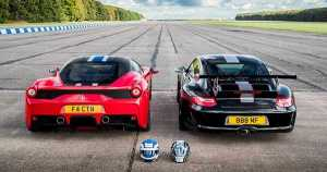 DRAG RACE FERRARI 458 SPECIALE VS Porsche 911 GT3 RS 1