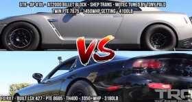 Grudge Street Race Turbo LSX RX7 VS INSANE Nissan GTR 2