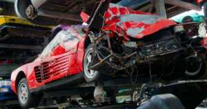 Inside The Lamborghini Ferrari Scrapyard in England 11