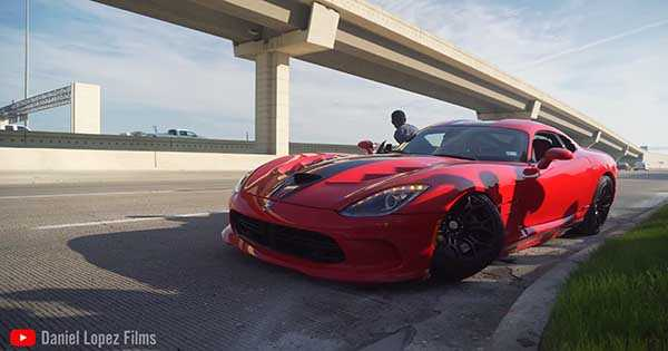 Massive Dodge Viper Crash 2