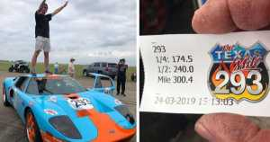 2500HP Ford GT Hits 300.4 MPH at the Texas Mile! New Standing Mile Record 1
