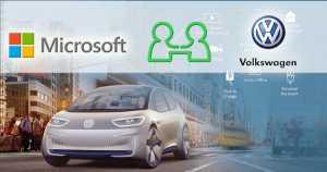 German car manufacturer Volkswagen & Microsoft became partners for a new Automotive Cloud 1