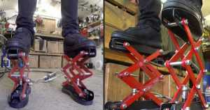 Custom Made Hydraulic Scissor Lift Shoes 1
