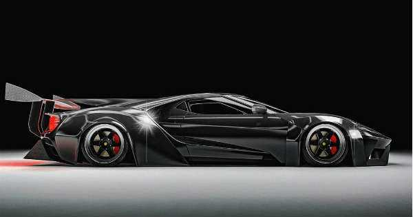 latest ford gt black knight 4